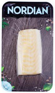 White fish flatskin packaging.  Can be fresh or frozen.