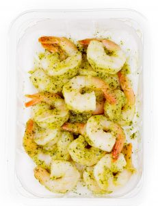 Cooked shrimp MAP packaging. 